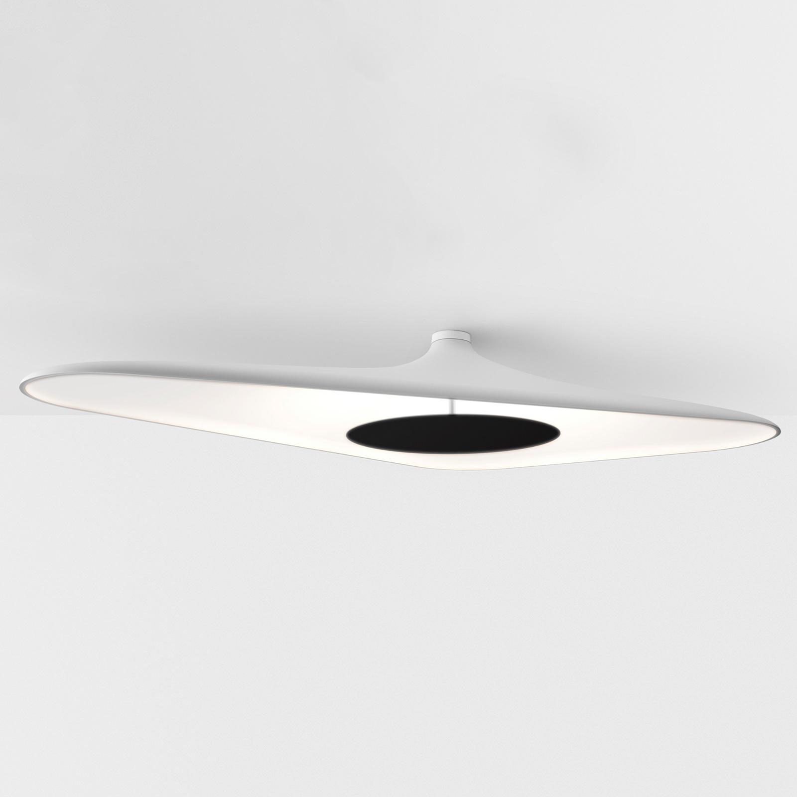 Luceplan Soleil Noir -LED-kattovalaisin valkoinen
