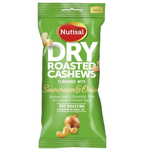 CASHEW SOURCREAM ONION 60 G NUTISAL HE