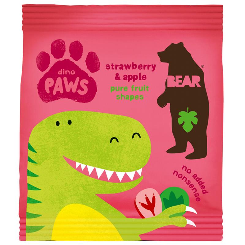 "Godis ""Dino Paws Strawberry & Apple"" 20g - 29% rabatt"
