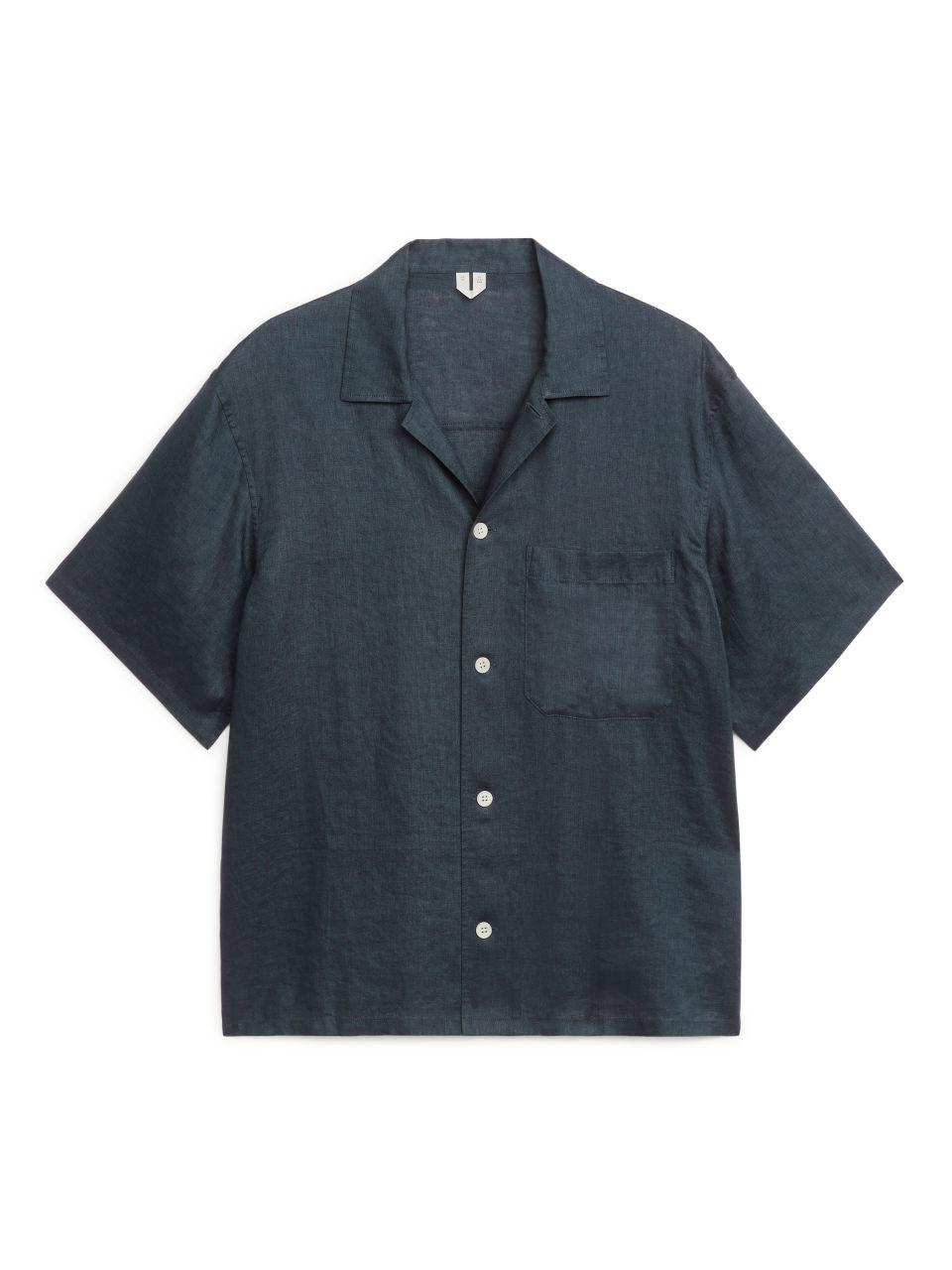 Linen Resort Shirt - Blue