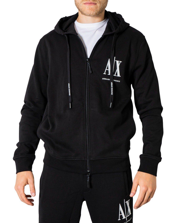 Armani Exchange Men's Sweatshirt Various Colours 273244 - black-1 XS