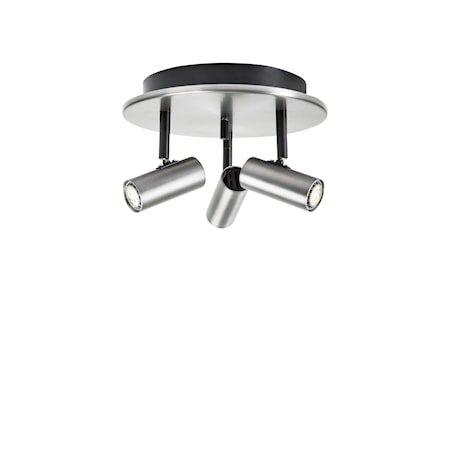Cato Triospot Oksidert grå LED Dimbar
