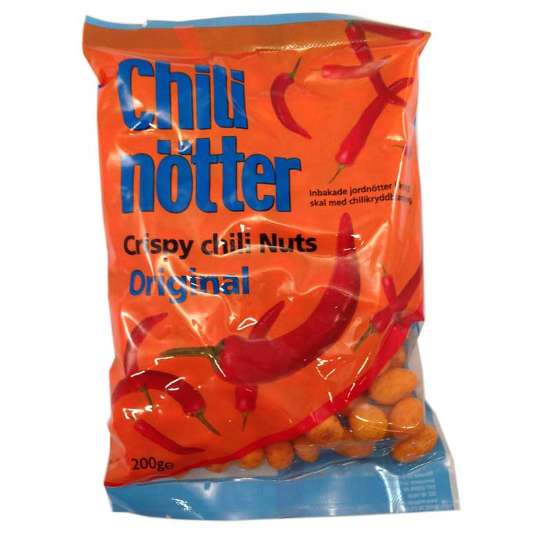 Chilinötter - Crispy chilinuts - 70% rabatt