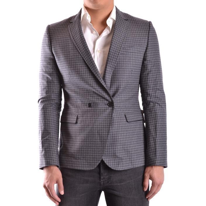 Bikkembergs Men's Blazer Grey 186627 - grey 48