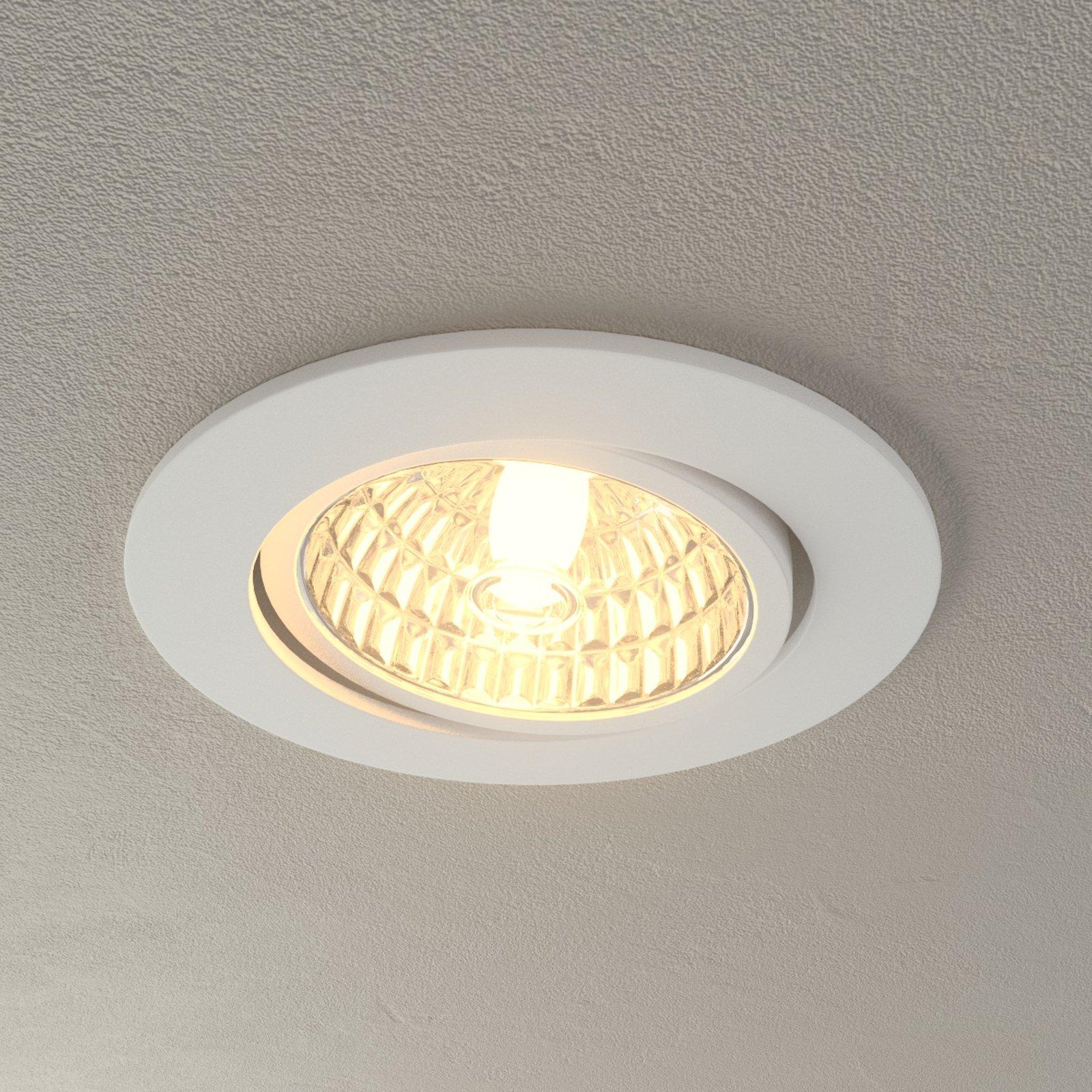 Rico LED innfellingsslampe, 6,5 W, hvit