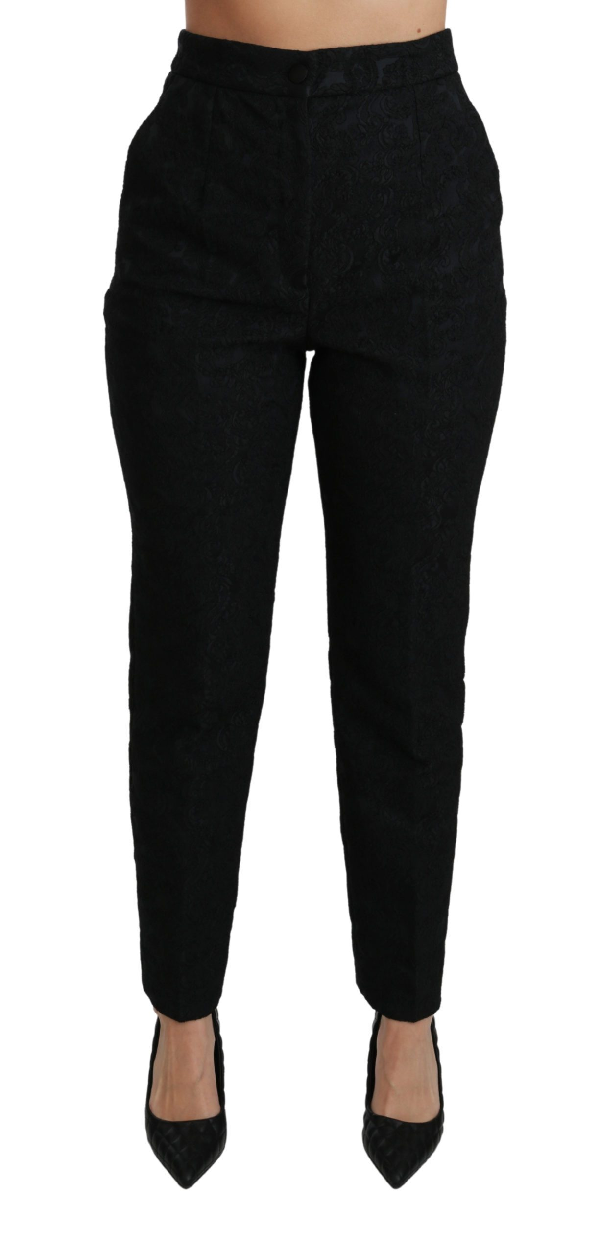 Dolce & Gabbana Women's Tapered High Waist Trouser Black PAN70893 - IT46|XL