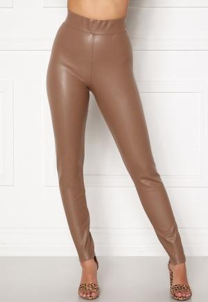 ONLY Superstar PU Leggings Walnut XS