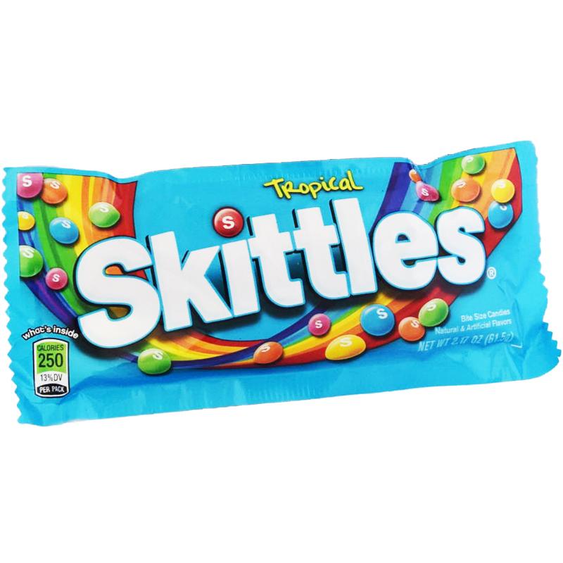 """Skittles """"Tropical"""" 61,5 g - 69% rabatt"""