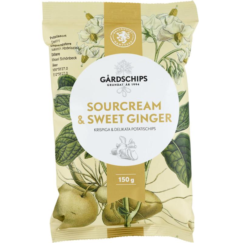 """Chips """"Sourcream & Sweet Ginger"""" 150g - 58% rabatt"""