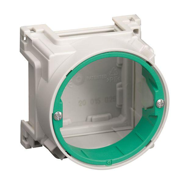 Schneider Electric IMT36195 Apparatboks uten stusser, hvit/grønn
