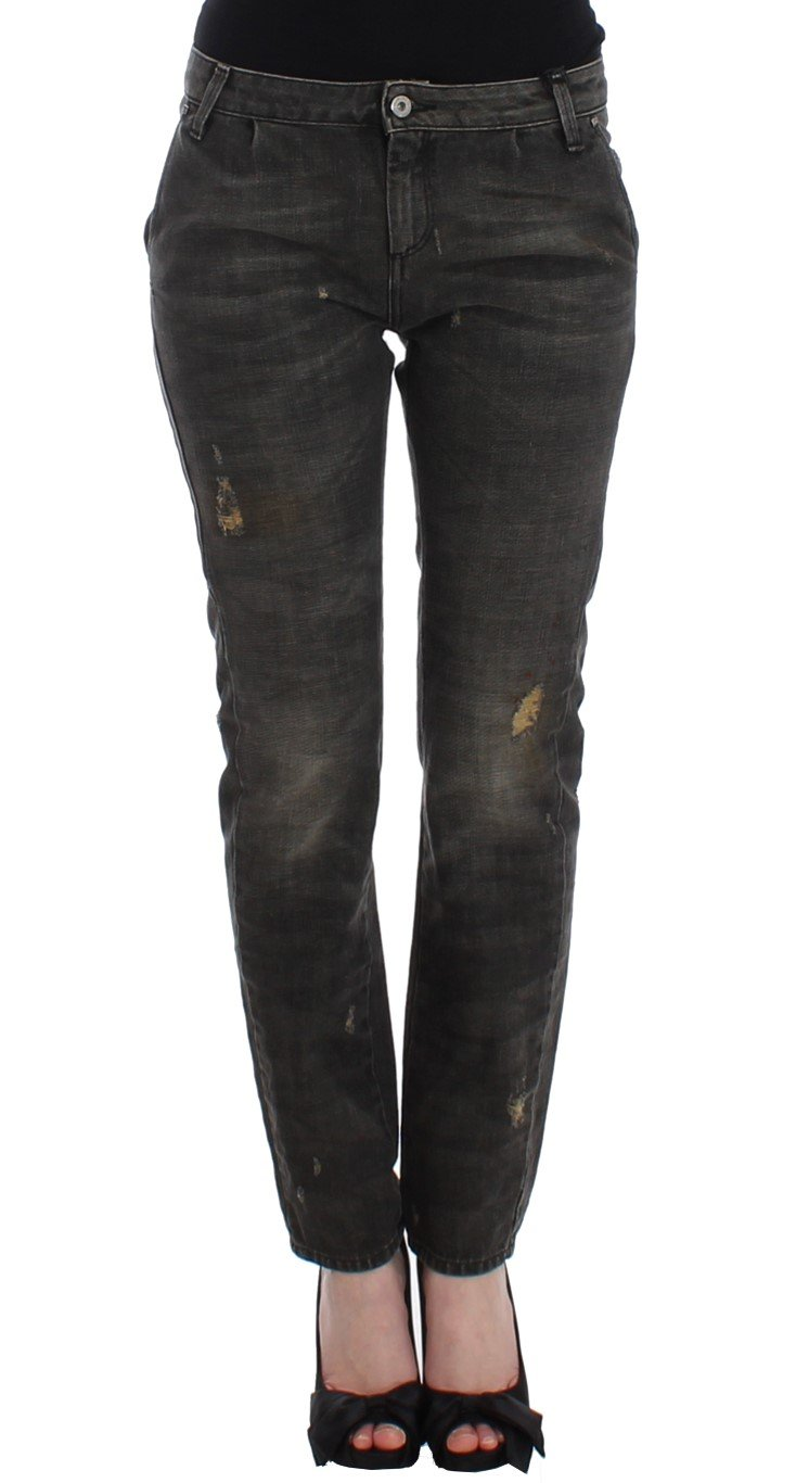 Costume National Women's Distressed Jeans Gray SIG12464 - W26