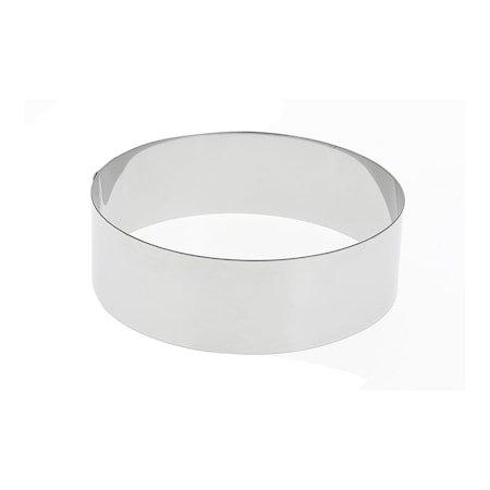 Kakering i stål Ø 16 cm H: 4,5 cm