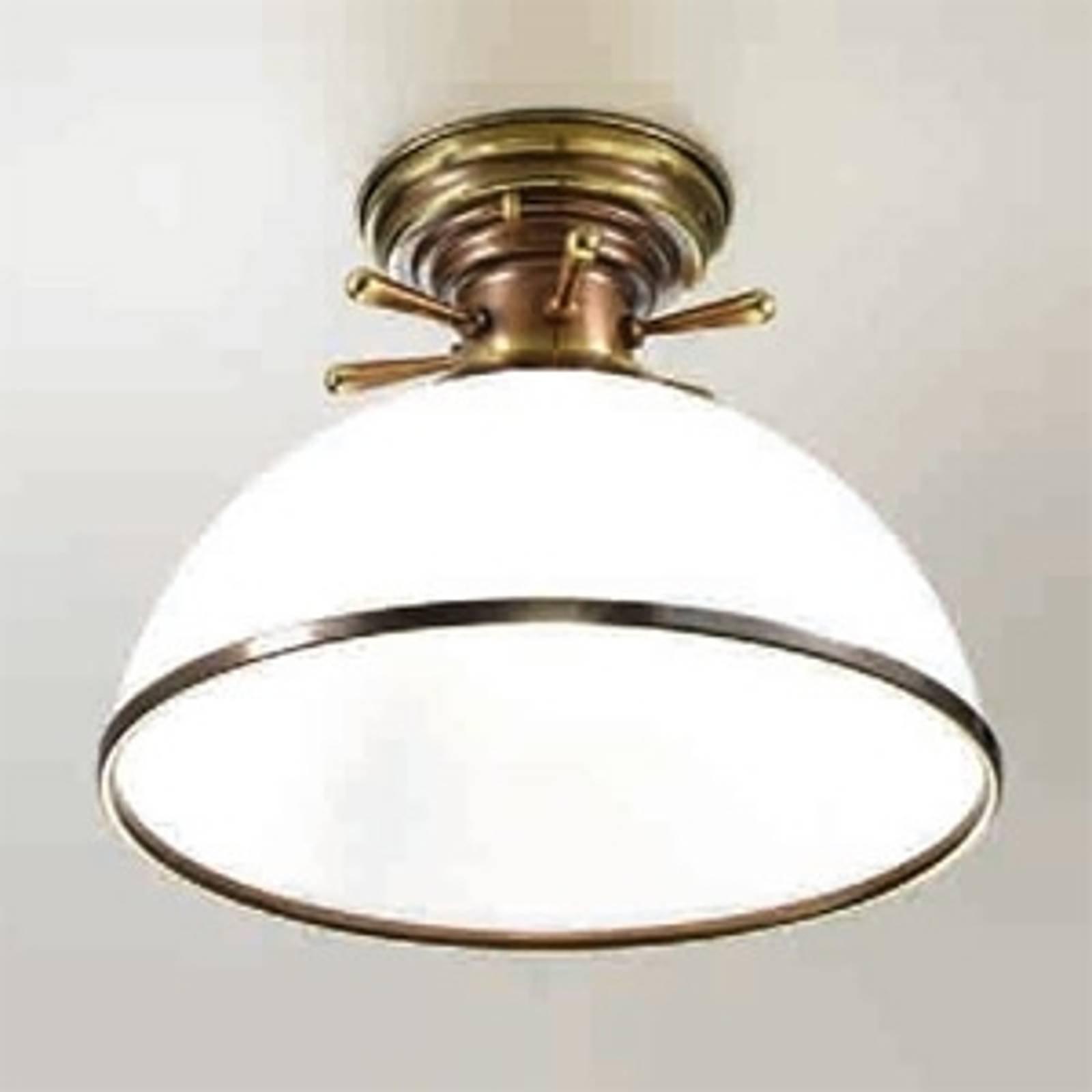 Libeccio taklampe i hvitt og messing