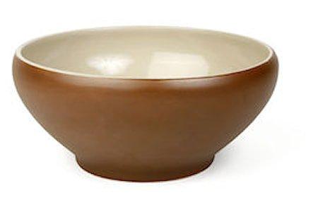 Skål 1,5 liter brun/beige