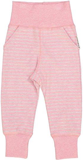 Geggamoja Baby Bukse Classic, Pink Daisy Stripe 74-80