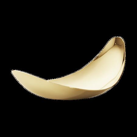Løv Serveringsskål Gull Rustfritt Stål Small