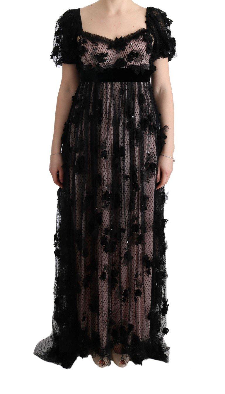 Dolce & Gabbana Women's Silk Applique Shift Dress Black SIG60592 - IT38|XS