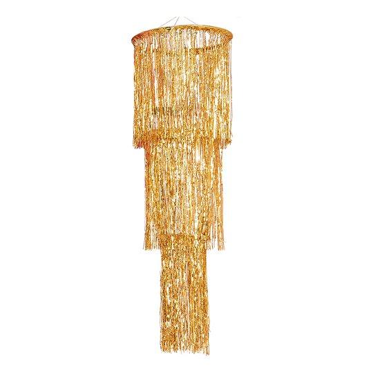 Kristallkrona Guld med Fransar