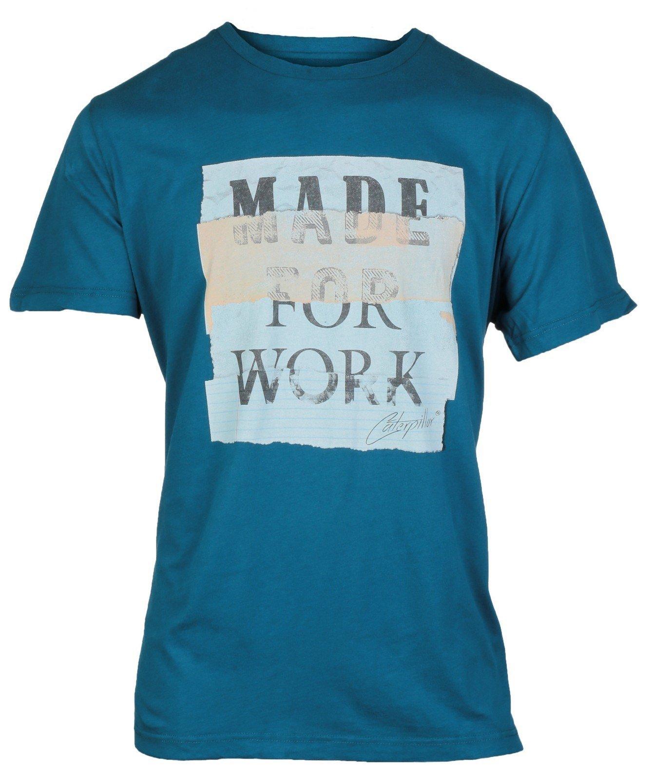 CAT Lifestyle Unisex Tabloid T-Shirt Blue 24693 - Blue Med