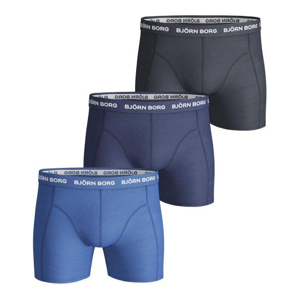Björn Borg Sammy Solid Alushousut sininen, 3 kpl pakkaus S