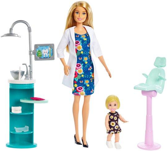 Barbie Dukke Dentist Lekesett