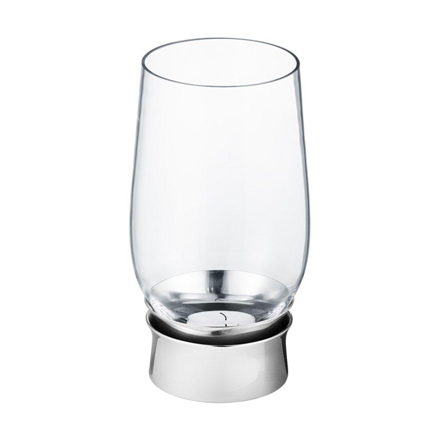 Georg Jensen Lumis Telyslykt Rustfritt Stål Glass