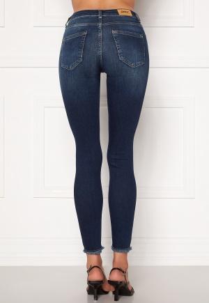 ONLY Blush Life Mid Ank Raw Jeans Dark Blue Denim XS/32