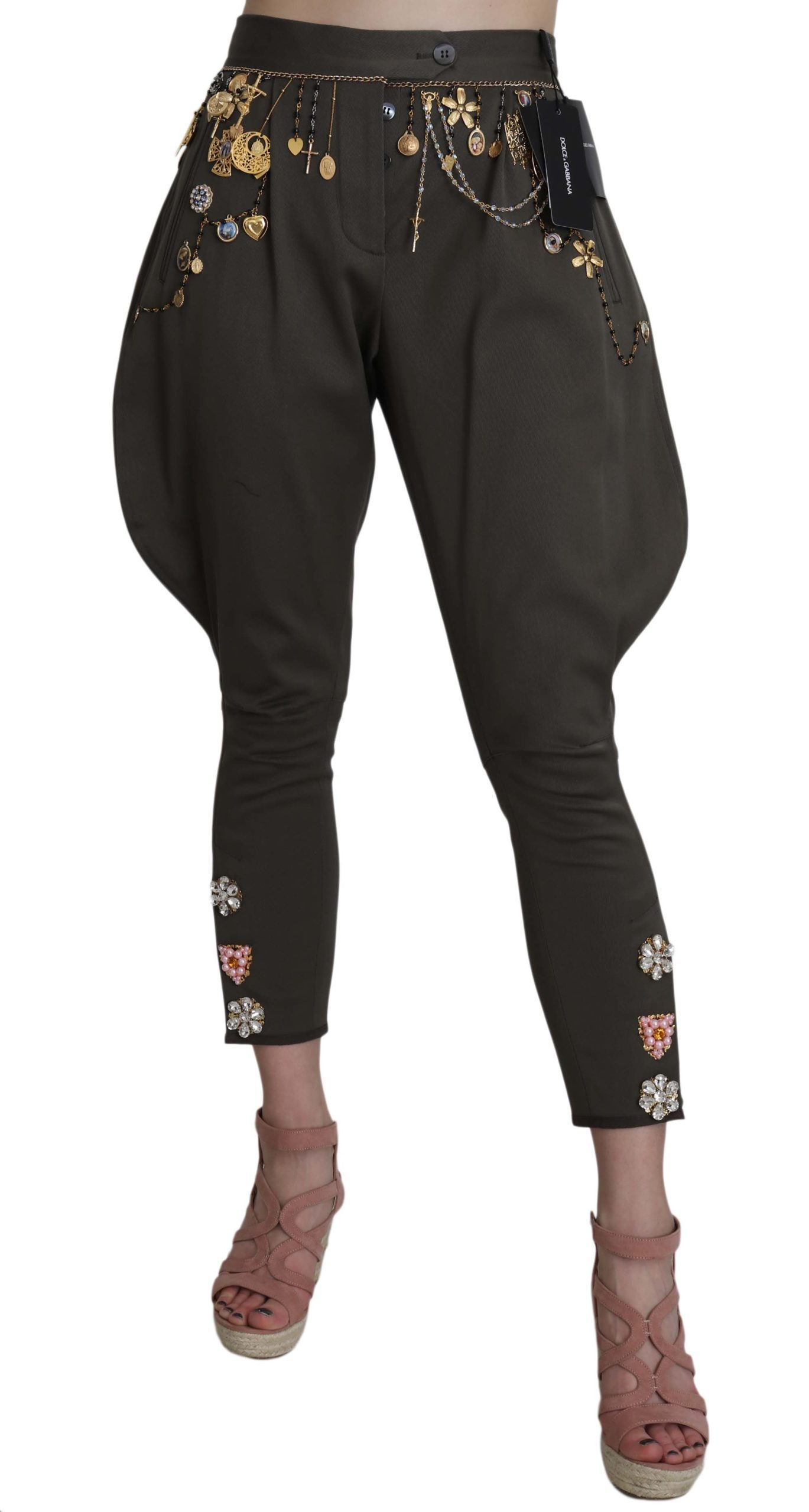 Dolce & Gabbana Women's Trouser Blue BYX1353 - IT44|L