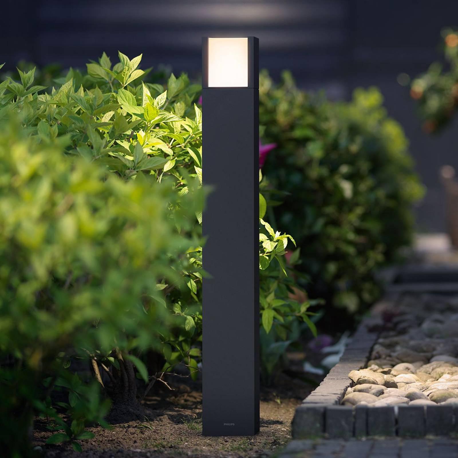 Philips Arbour LED-pollarivalo, antrasiitti IP44