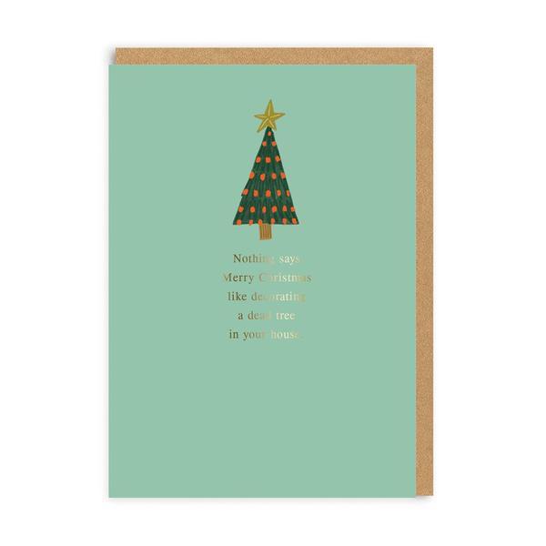 Merry Dead Tree Christmas Card