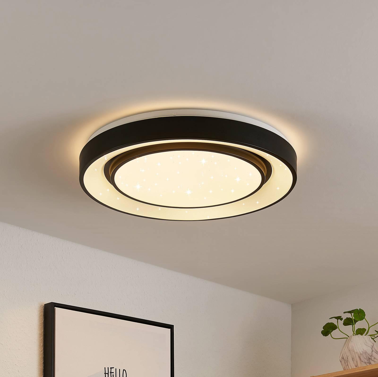 Lindby Gamino -LED-kattovalaisin, RGBW, CCT, 48 cm
