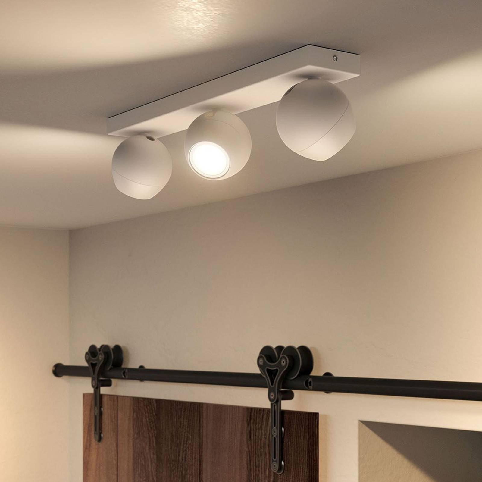 Philips Hue Buckram 3 lyskilder dimmebryter hvit