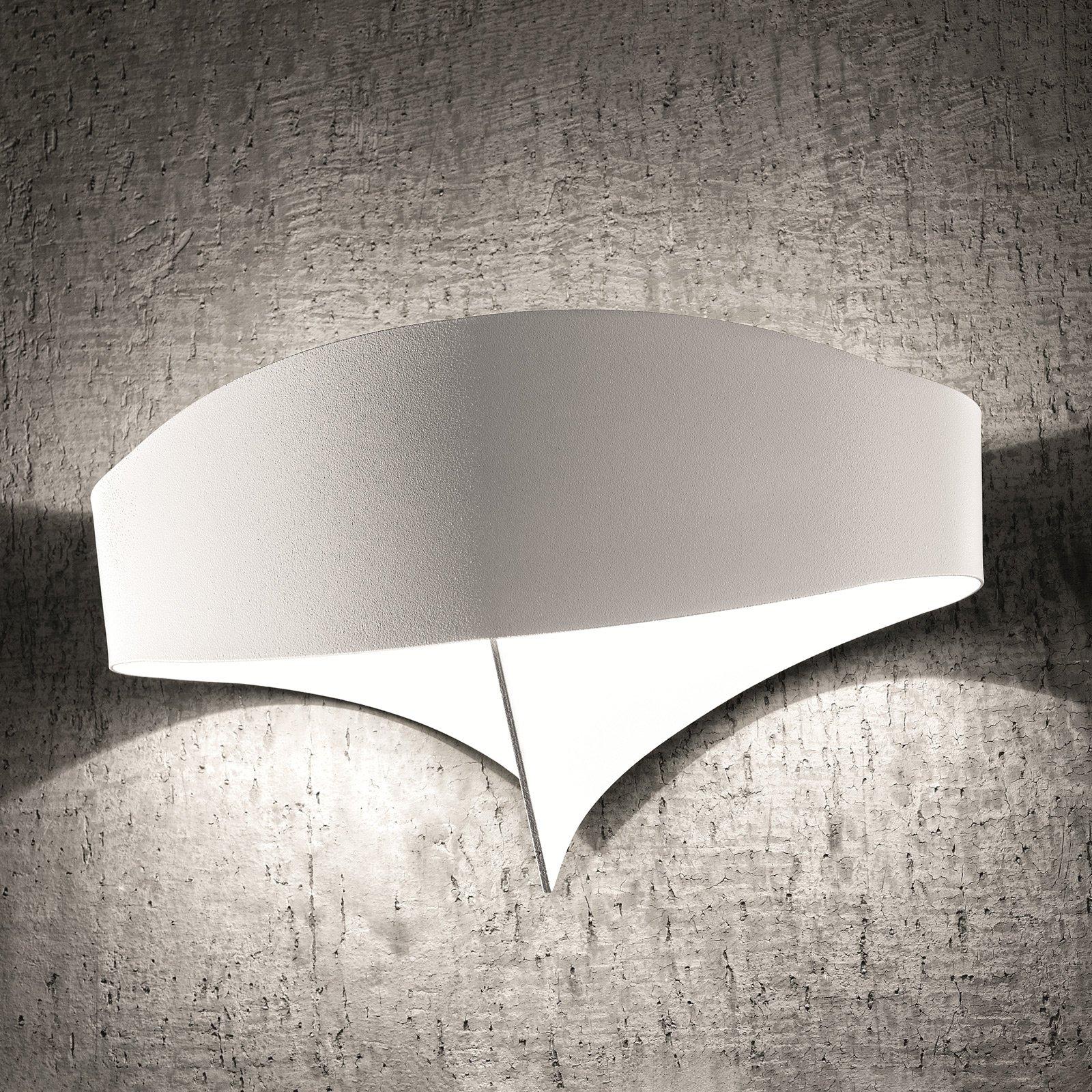 LED-vegglampe Scudo av stål, hvit