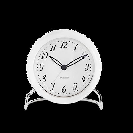Arne Jacobsen LK bordsur, hvit/hvit, Ø 11 cm, alarmfunksjon
