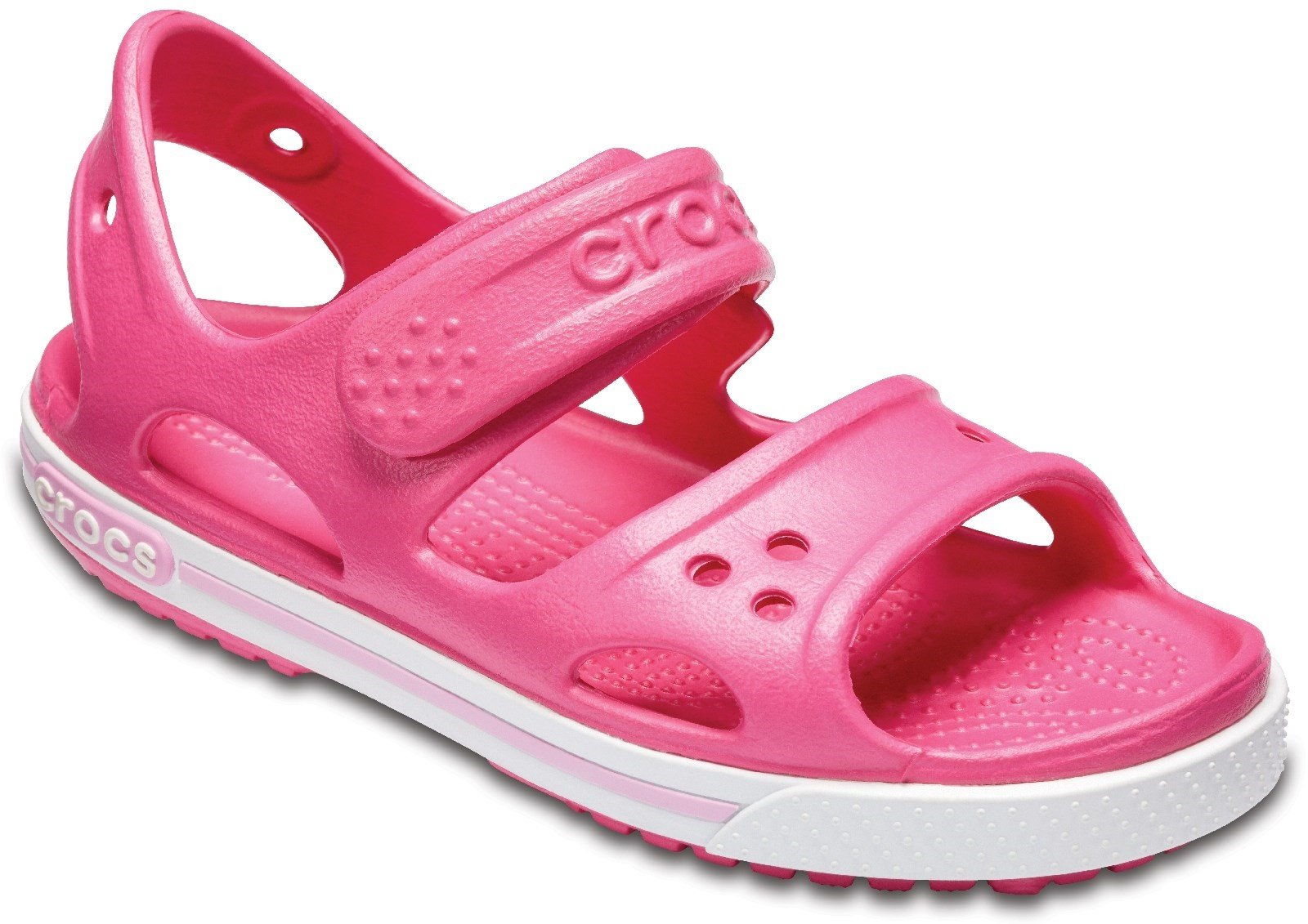 Crocs Kid's Crocband ll Touch Fastening Sandal Various Colours 28788 - Paradise Pink/Carnation 11