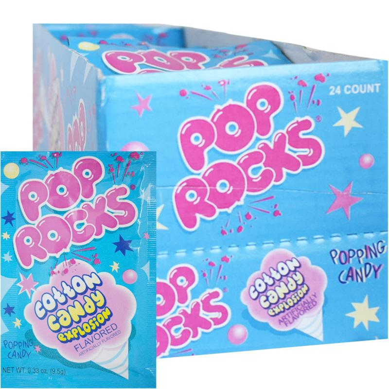 Laatikollinen Pop Rocks Cotton Candy Makeispussia 24 x 9,5g - 47% alennus