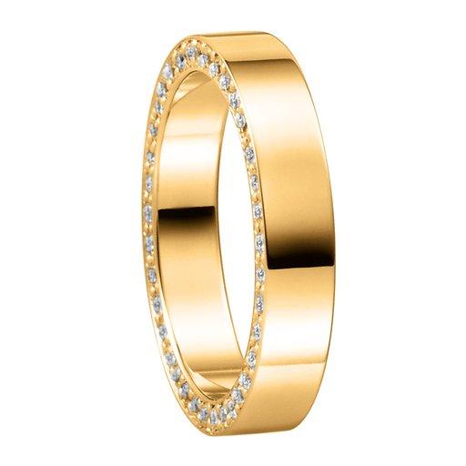 Diamantring i 18K guld, 74