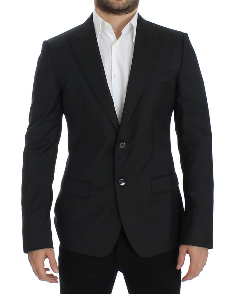 Dolce & Gabbana Men's wool slim fit blazer Black SIG12298 - IT48 | M