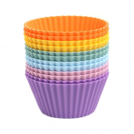 Muffinsformar, färgmix regnbågspastell, 12-pack
