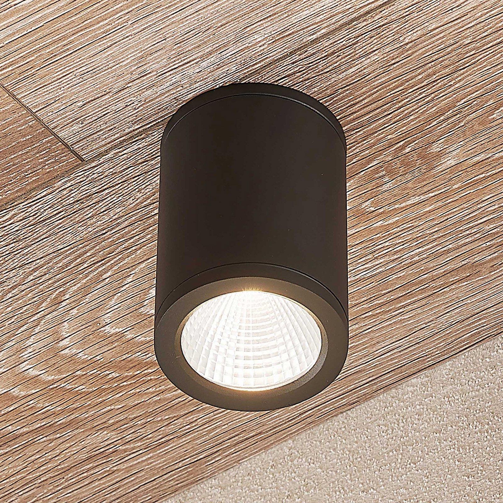 LED-downlight Embla i aluminium IP54, mørk grå