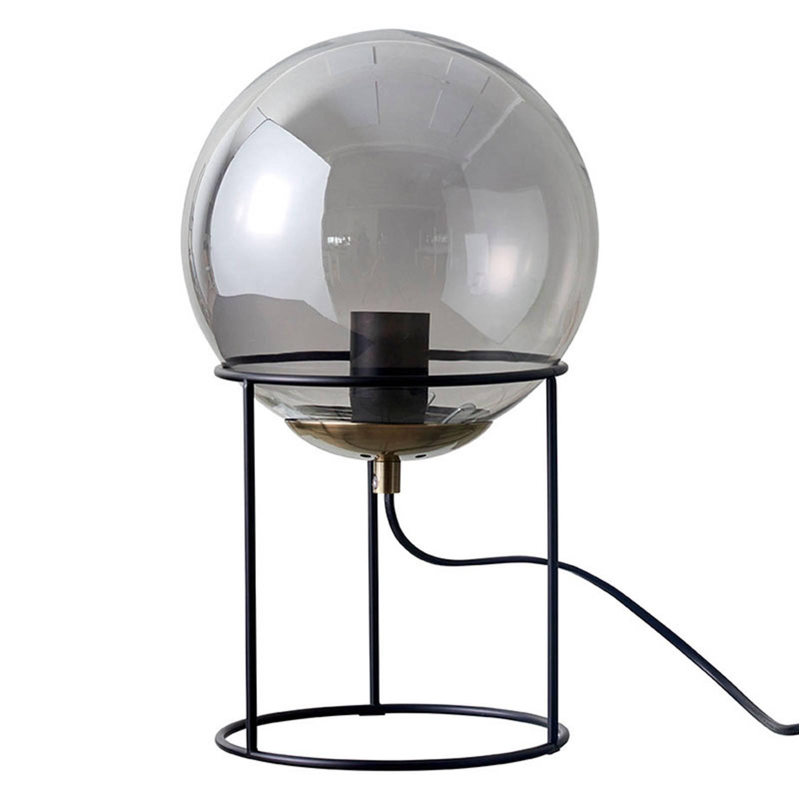 Dyberg Larsen Moon -pöytälamppu, savulasivarjostin