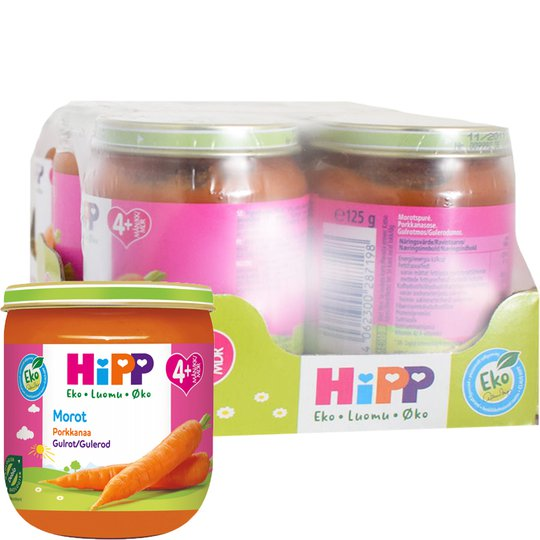 Luomu Lastenruoka Porkkanaa 6kpl - 93% alennus