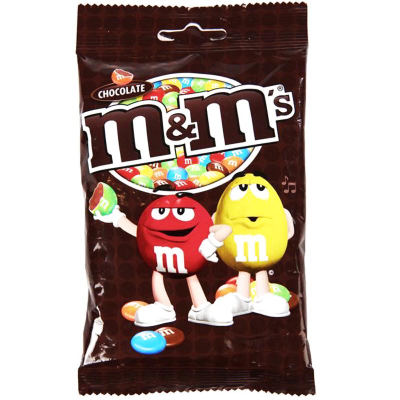 """Godis """"M&M Chocolate"""" 100g - 23% rabatt"""