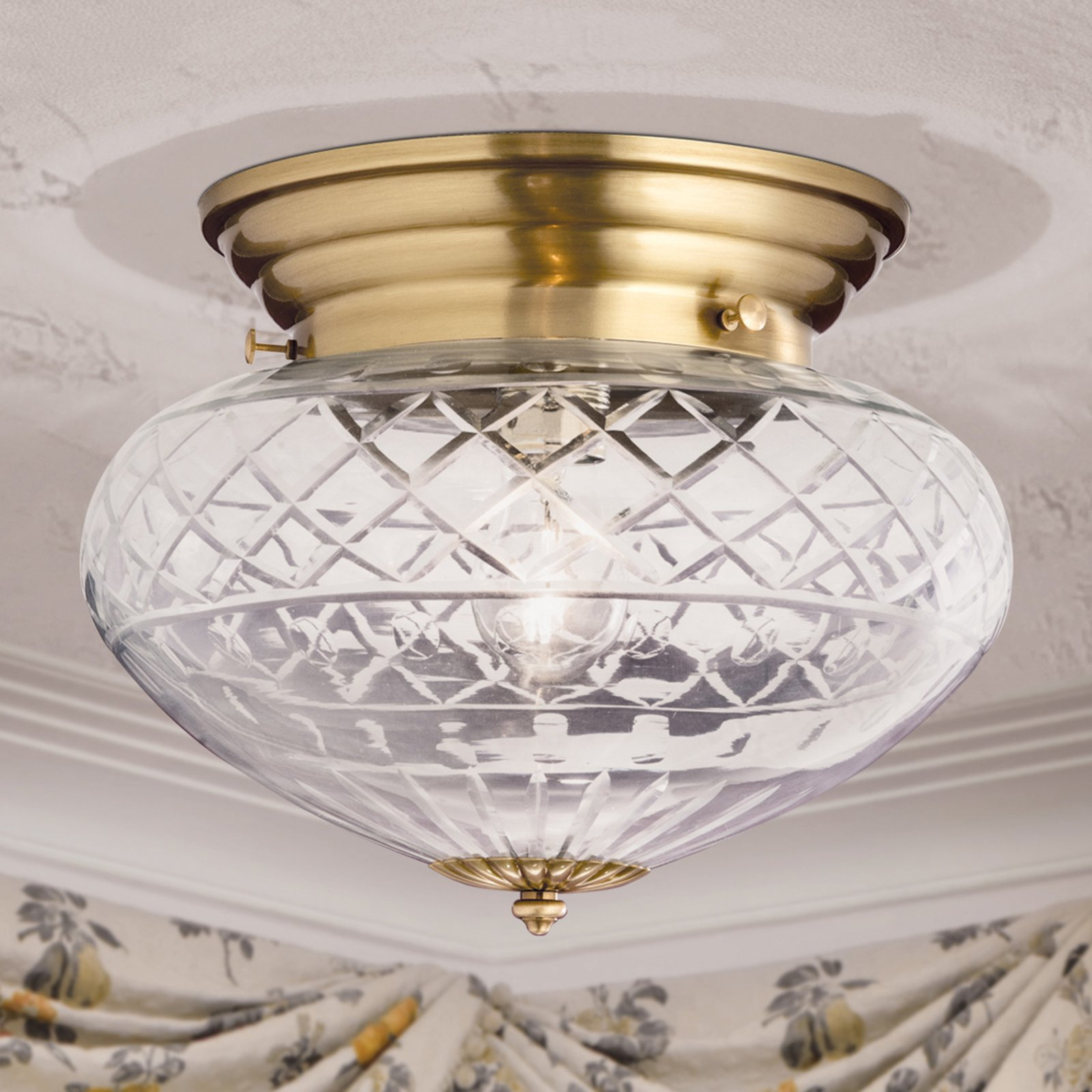 Håndslipt ENNA taklampe Ø 31 cm