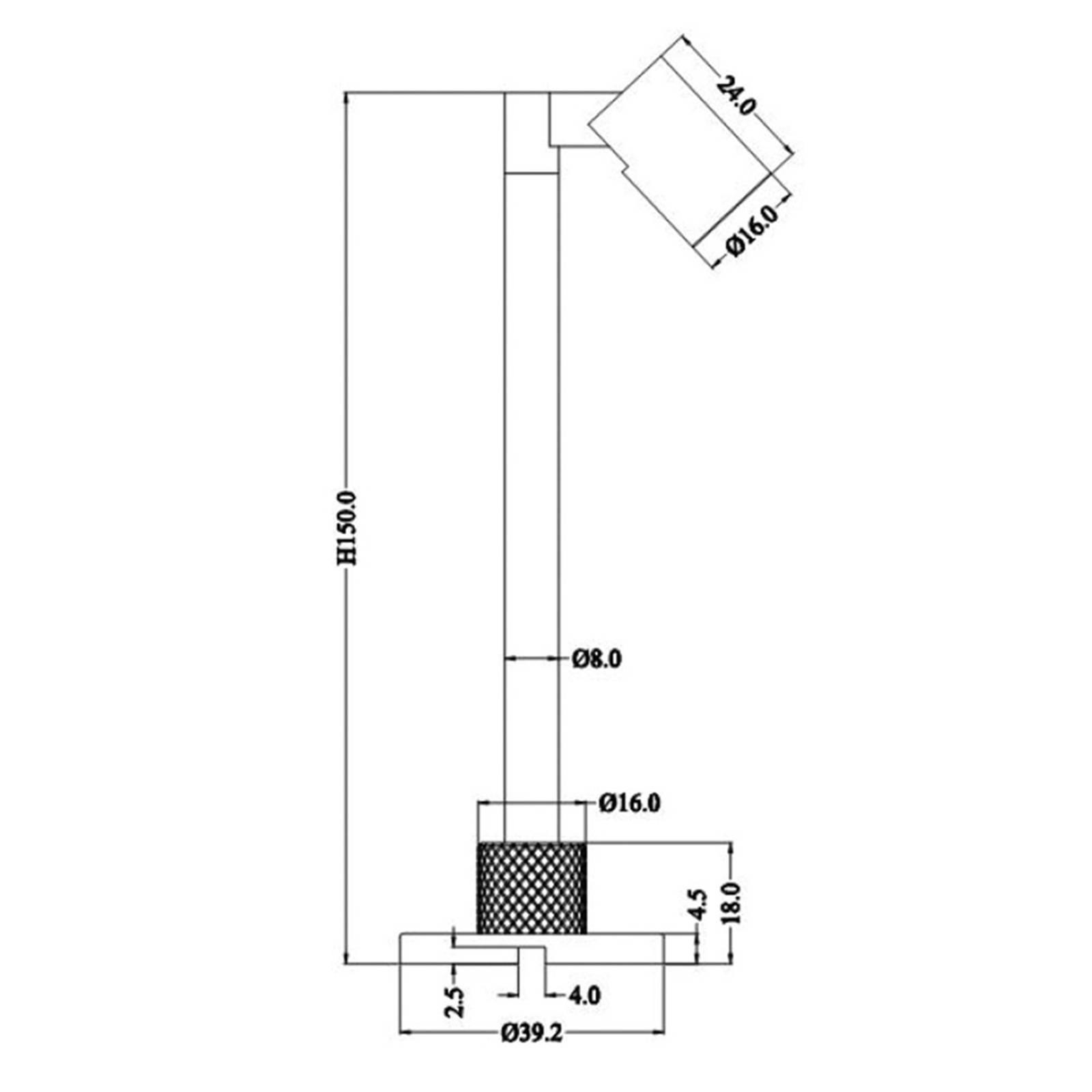 LED-display-valaisin Herculis small 3 000 K, musta