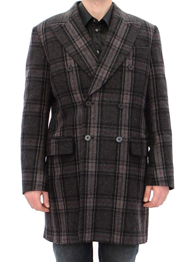 Dolce & Gabbana Men's Double Breasted Coat Jacket Gray GJH10806 - IT48   M