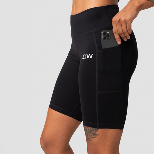 Classic Pocket Biker Shorts, Black