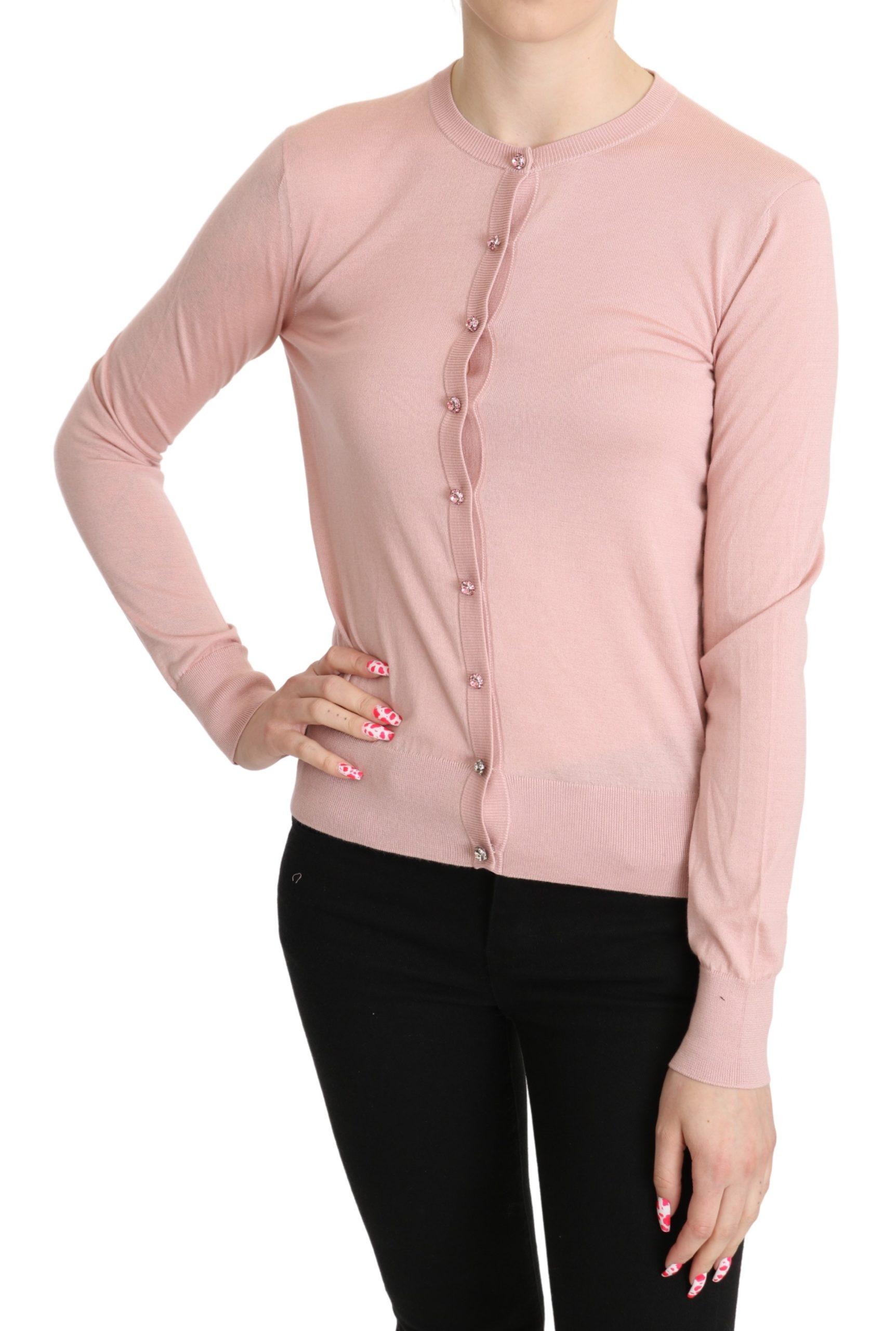 Dolce & Gabbana Women's Cashmere LS Cardigan Pink TSH5273 - IT38|XS