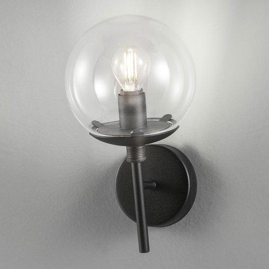 Vegglampe Global Ø 15 cm svart