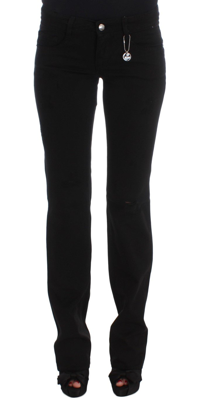 Costume National Women's Cotton Slim Fit Bootcut Jeans Black SIG30120 - W29
